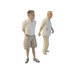 散步<font class='myIsRed'>老人</font>3d模型