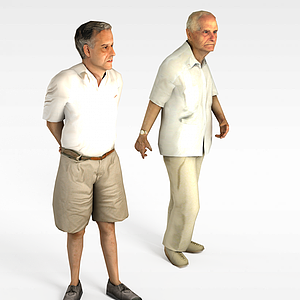 3d散步<font class='myIsRed'>老人</font>模型