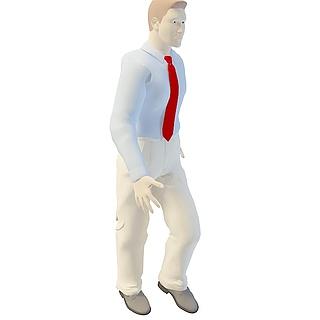 商务男人3d模型