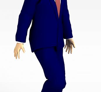 蓝色西服男士