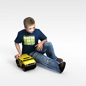 3d玩<font class='myIsRed'>小汽车</font>男孩模型