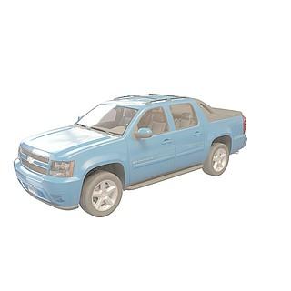 雪弗兰皮卡3d模型