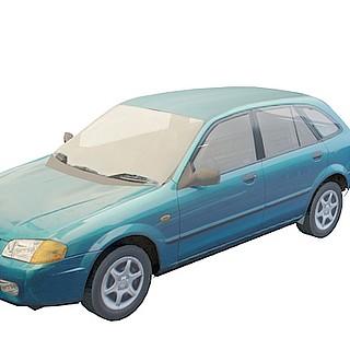 蓝色小<font class='myIsRed'>汽车</font>3d模型