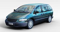 绿色小轿车模型3d模型