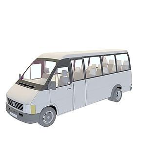 小巴<font class='myIsRed'>车</font>3d模型