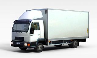 3d密封货车模型