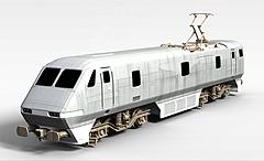 火车车头模型3d模型