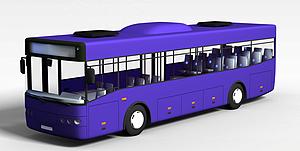 3d公共汽車模型