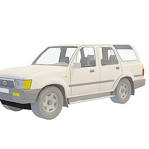 3d豐田越野車模型