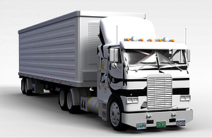 3d厢式<font class='myIsRed'>货车</font>模型