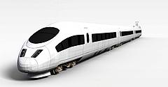 高铁模型3d模型