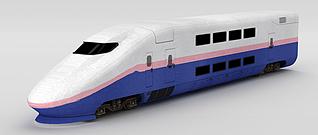 3d动车车头模型