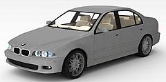 豪华宝马轿车模型3d模型
