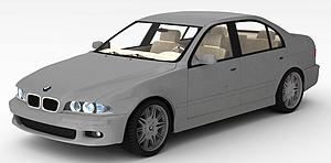 3d豪华宝马轿车模型