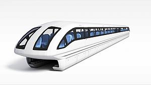 3d<font class='myIsRed'>磁悬浮列车</font>模型