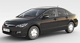 本田轿车3d模型