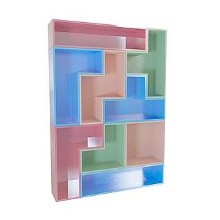 俄罗斯方块创意架3d模型