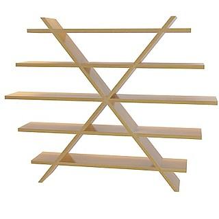 艺术实木书架3d模型