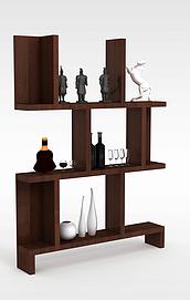 客厅酒品展示架3d模型