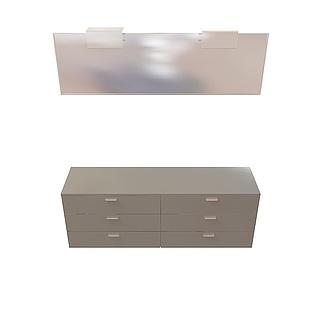 梳妆台柜3d模型