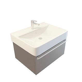 方形洗手台3d模型