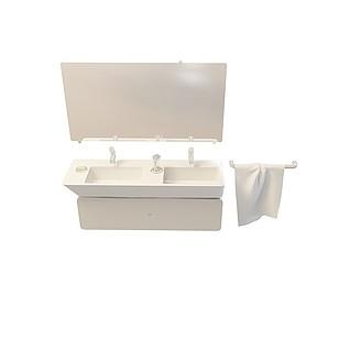 组合洗手台3d模型