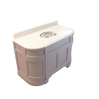 柜式洗手台3d模型