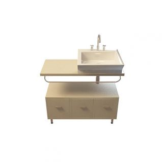 柜式洗漱台3d模型