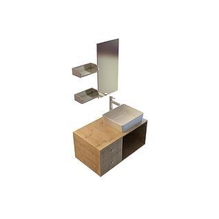 木式卫浴组合3d模型