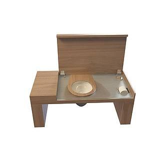 木质洗漱台3d模型