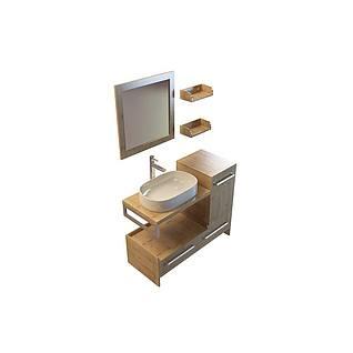 木质卫浴组合3d模型