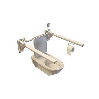 扶手马桶3d模型