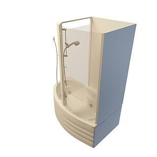 一体式浴缸3d模型