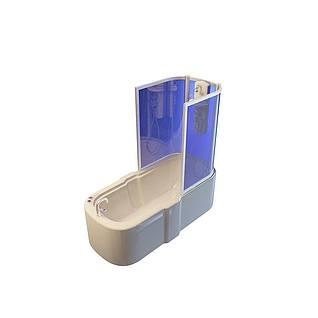 半遮挡浴缸3d模型