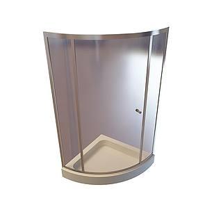 玻璃门淋浴间3d模型