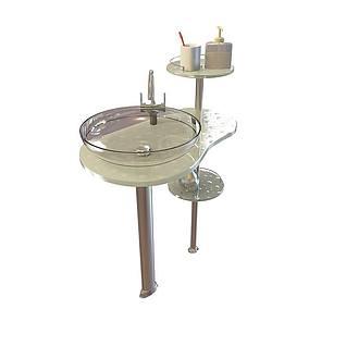玻璃洗面盆3d模型