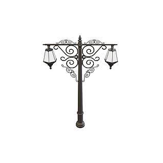 铁艺花园矮路灯3d模型