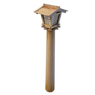 古典庭院灯3d模型