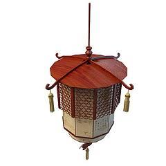 古典灯笼模型3d模型