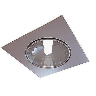 方形筒灯3d模型