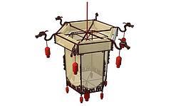 中式灯笼模型3d模型
