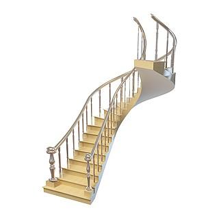 别墅<font class='myIsRed'>楼梯</font>3d模型