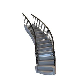 铁艺<font class='myIsRed'>楼梯</font>3d模型