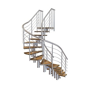 3d转角楼梯模型