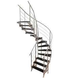不锈钢扶手梯3d模型