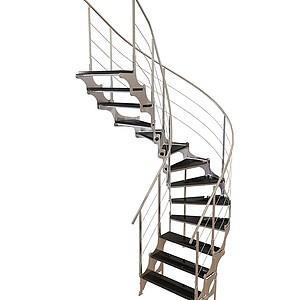 3d不锈钢扶手梯模型