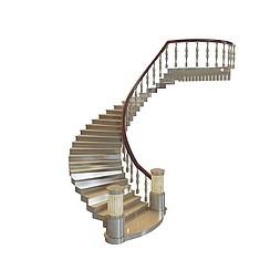 大堂弧形楼梯3D模型3d模型