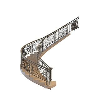 铁艺楼梯3d模型