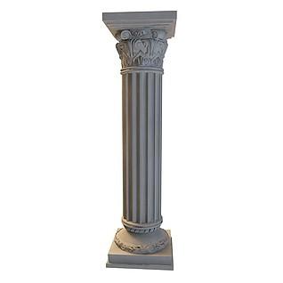 大理石柱3d模型