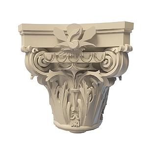 建筑雕花柱3d模型